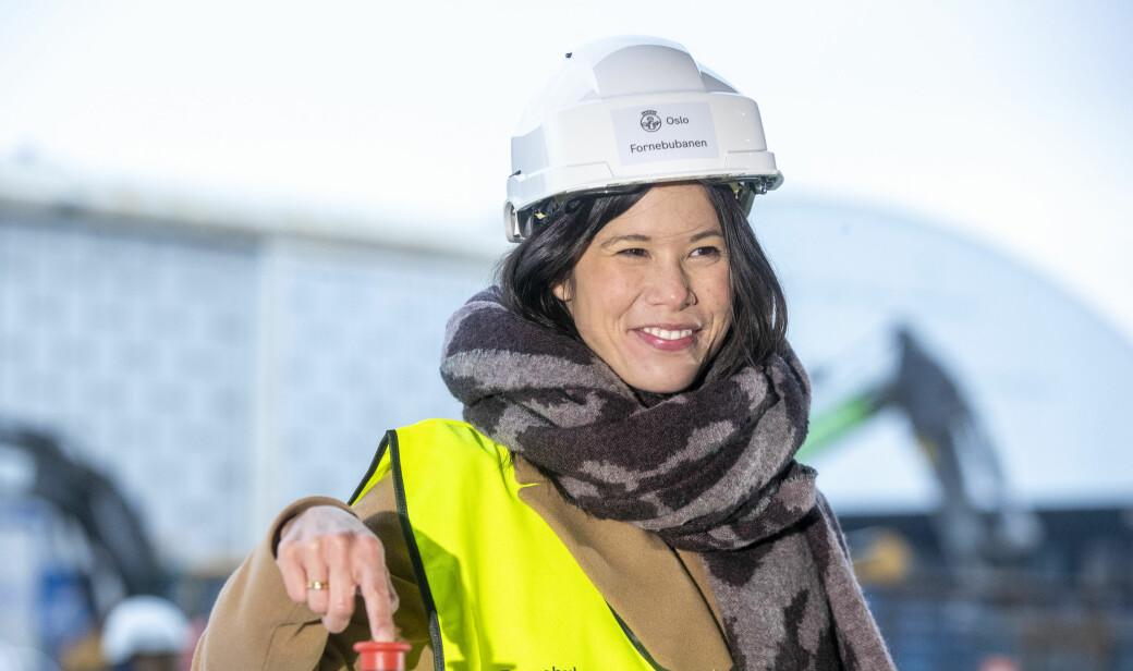 — Jeg kommer aldri til å skamme meg over å ha satset på oslofolks trygghet og sikkerhet, sier Lan Marie Berg om mistillitstrusler på grunn av milliardsprekk i budsjett for ny vannforsyning for Oslo.