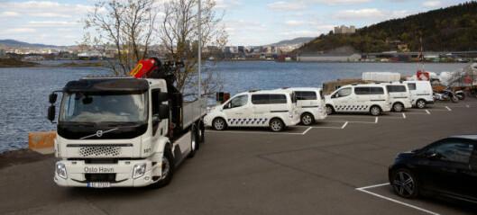 Oslo Havns nye elektriske lastebil den første av sitt slag i Norge