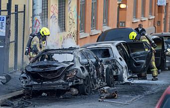 To biler brant på Enerhaugen