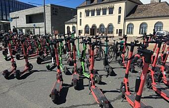 Bymiljøetaten har taua inn 200 elsparkesykler i løpet av helgen. Regning til utleierne: 318.000 kroner