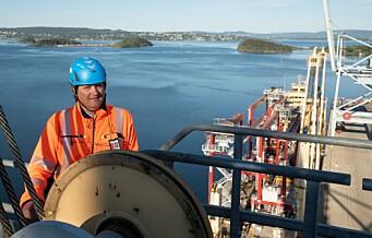 Svein Olav er sjef for Oslos luftigste arbeidsplass. Nå har han og havna fått tre nye kraner