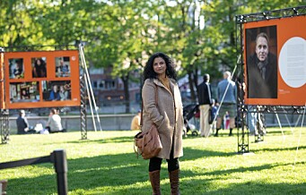 - Jeg vil vise bredden som finnes her, sier Iffit Qureshi om nabolags-portrettene på Alexander Kiellands plass