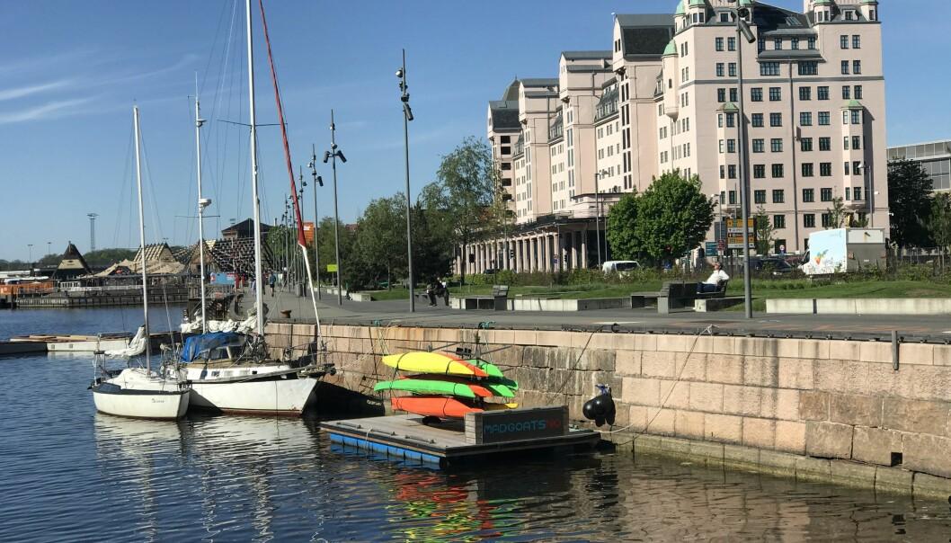 Her, innerst ved Langkaia mot Oslo S, har bymiljøetaten inngått leieavtaler for badstuer, kajakkpadling og bading.