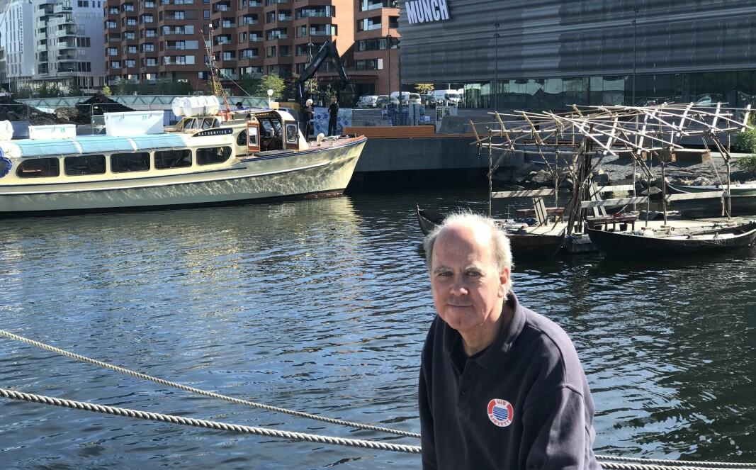 Partner i Båtservice og Norsk Yacht Charter, Kristian Qvigstad, er svært tilfreds med oppstart av ferjerute mellom Munchmuseet og Bygdøy, men ønsker også å anløpe Oslo S.