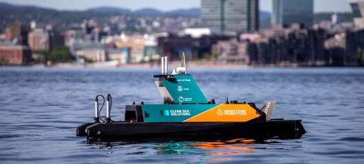 Denne autonome dronen skal rydde plastavfallet i Oslofjorden. – Dette er en milepæl