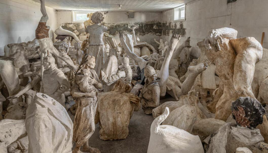 Utstillingen «Hva skjer med kunsten når kunstneren dør?» viser frem arvekunst fra kjente kunstnere.