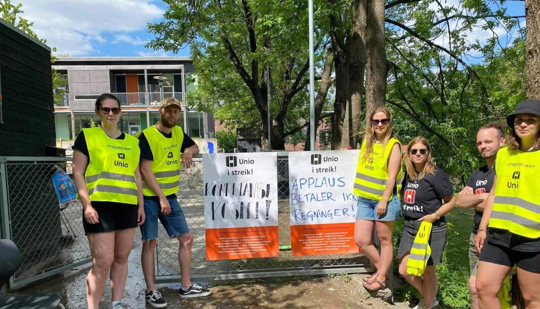 Barnehagelærerne ved Fryd barnehage i bydel St. Hanshaugen er tatt ut i streik.