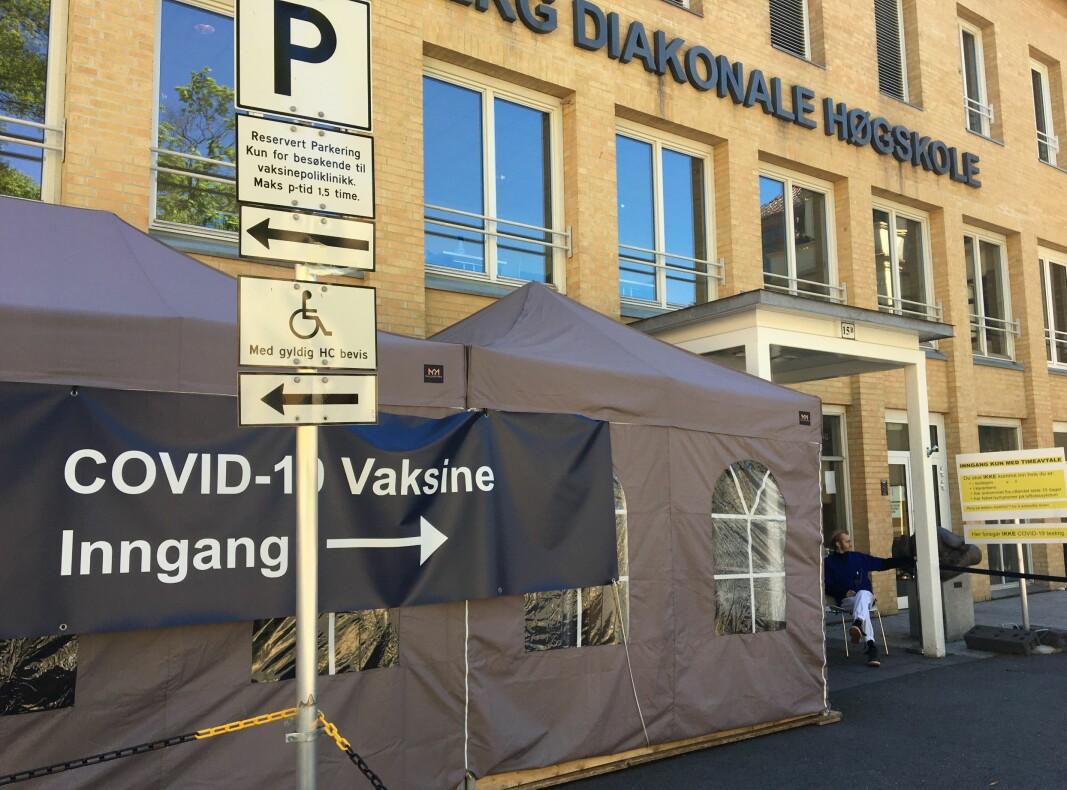 Vaksinesenter i Bydel St. Hanshaugen ligger på Lovisenberg diakonale høgskole.