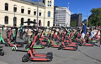 Oslo kommune krever nær 8 millioner kroner årlig for å leie ut elsparkesykler