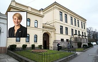 Kari Elisabeth Kaski (SV) vil at Stortinget redder Nobel-villaen på Frogner fra salg