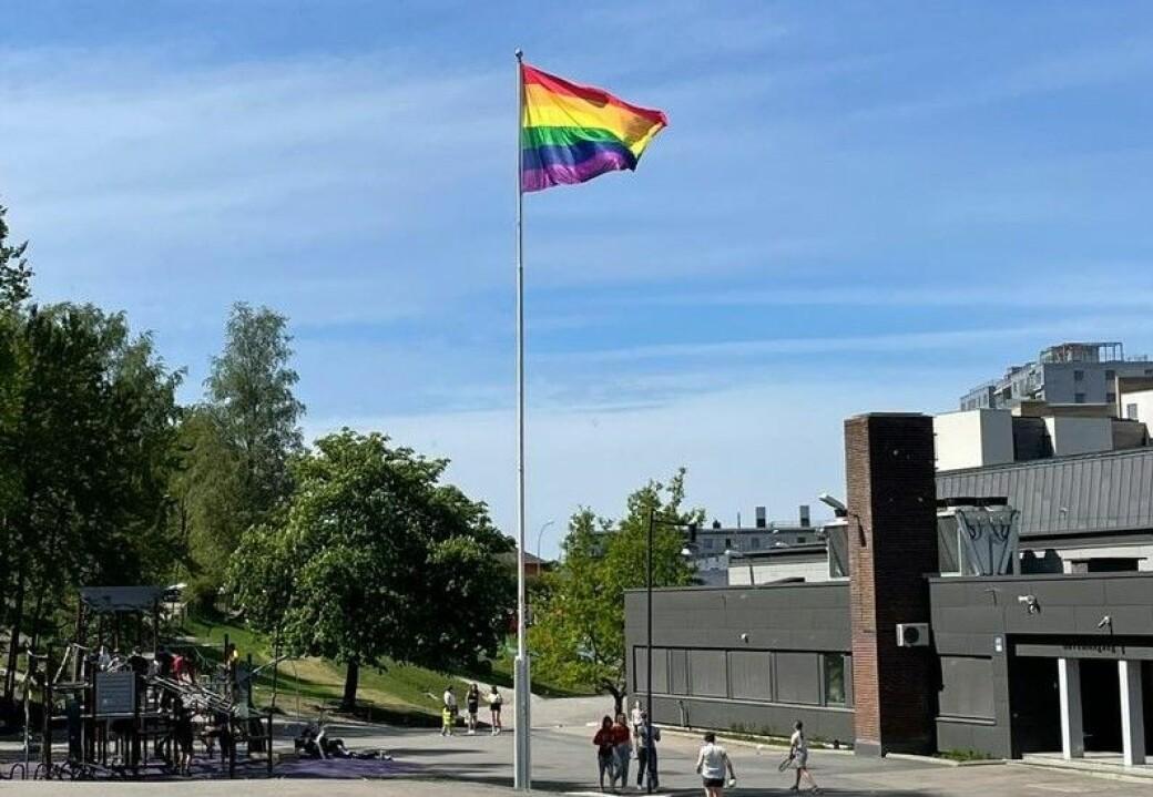 To ganger på under ett døgn har noen stjålet Bøler skoles Pride-flagg. — Nå er vi både lei oss og fortvila, skriver skolen på Facebook.