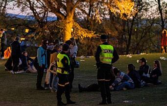 Rekordmange samlet på St. Hanshaugen i natt. Politiet anslår at 3.000 var i parken