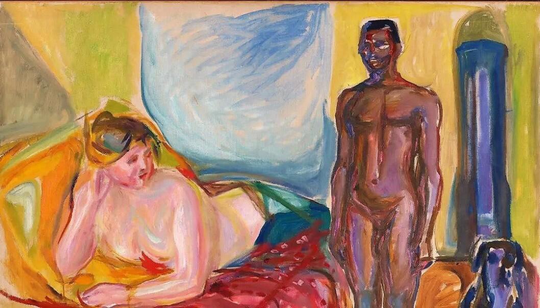 Kleopatra og slaven av Edvard Munch. Olje på lerret 1916-21.