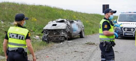Drapet på Hellerud: Drapssiktet svingte mot kjøreretningen og frontkolliderte på E6 der fartsgrensen er 110 km/t