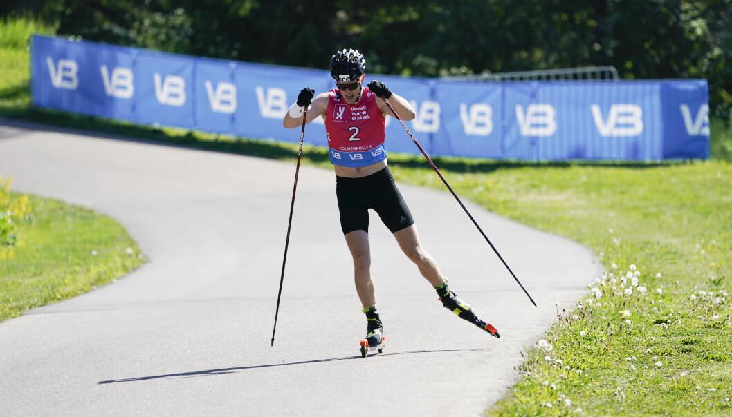 Tarjei Bø ble vinner i skiskyting under Holmenkollen Skishow. Foto: Terje Bendiksby / NTB