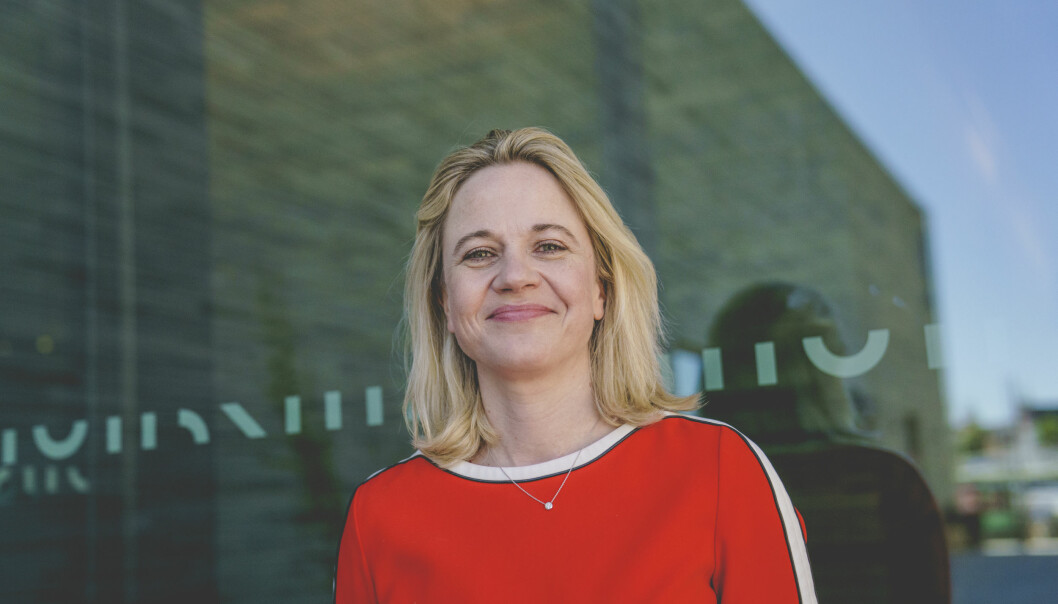 Direktør Karin Hindsbo i nye Nasjonalmuseet.