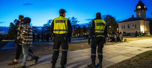 Mye støy fra parker i natt, sier politiet. På St. Hanshaugen var det anslagsvis 2-3.000 mennesker