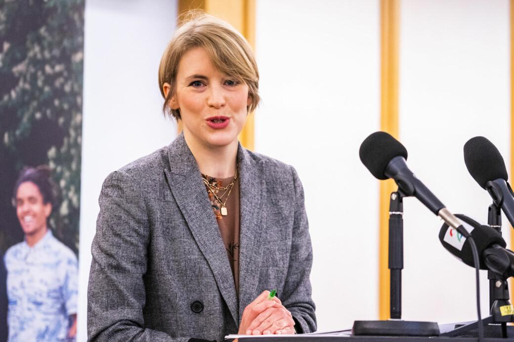 SVs toppkandidat i Oslo, Kari Elisabeth Kaski, kan juble over nok en god måling for partiet i hovedstaden.