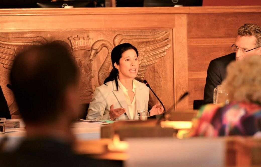 Lan Marie Berg (MDG) i desember 2020, under en høring om tusenvis av brudd på arbeidsmiljøloven i Oslo kommune. Blant annet i virksomhet underlagt miljø- og samferdselsbyråden.