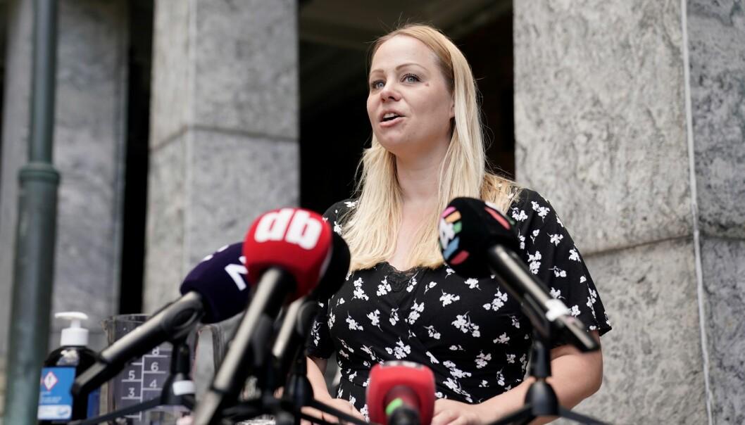 — Jeg har varslet byrådsleder Raymond Johansen (Ap) rett før pressekonferansen, sier Eivor Evenrud (Rødt). Nå sikrer Rødt flertall for å felle Lan Marie Berg (MDG) i mistillitssaken i morgen.