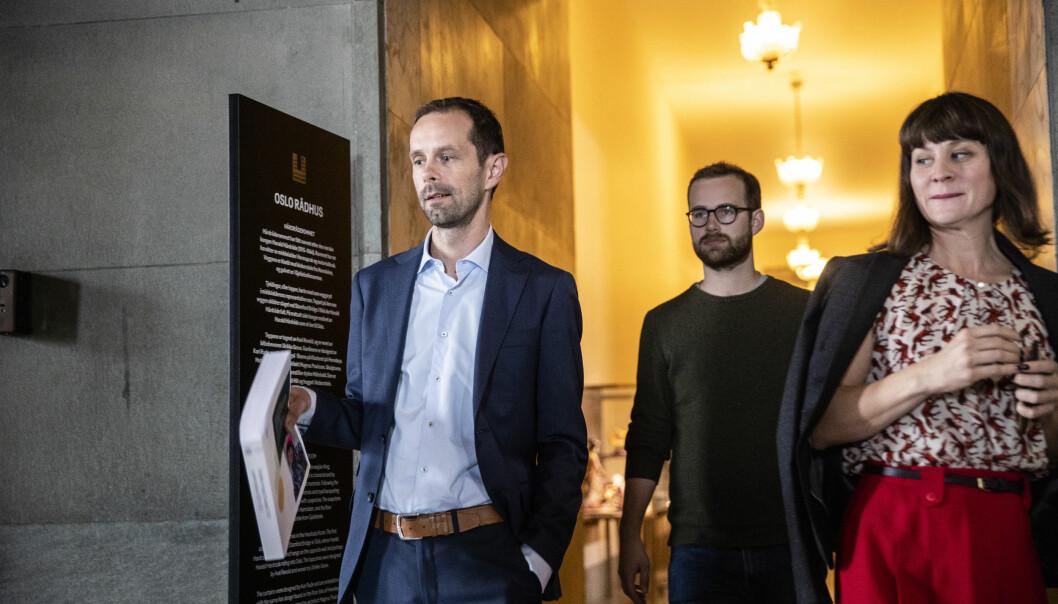 Hallstein Bjercke (tv), Venstres gruppeleder i Oslo bystyre, åpner for å overta for Rødt som byrådets samarbeidsparti.