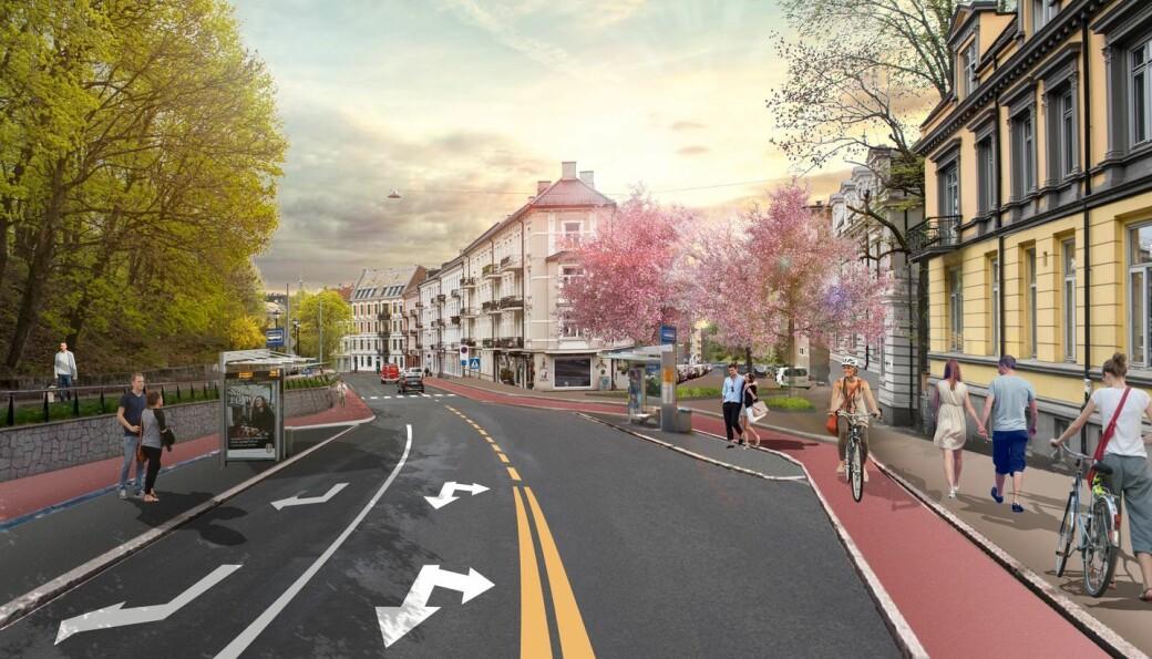 Iløpet av 2024 kommer de opphøyde sykkelfeltene i begge retninger i Ullevålsveien. Det sikret rødgrønne partier og Venstre et solid bystyreflertall for.