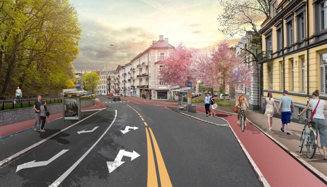 Iløpet av 2024 kommer opphøyde sykkelfeltene i begge retninger i Ullevålsveien. Det kommer snart inn i porteføljen til Statens vegvesen.
