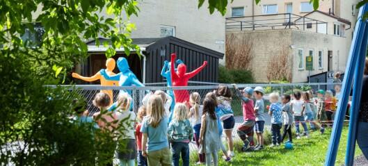Danseforestilling skaper begeistring i barnehager over hele byen. — Barn er et så raust publikum. Fra første stund har de løpt oss i møte