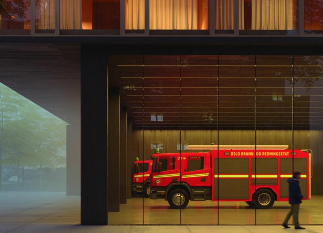 Brann- og redningsetatens arbeid skal være synlig for samfunnet. Derfor er det jobbet detaljert med fasader og uttrykk for å bygge oppunder denne åpenheten.