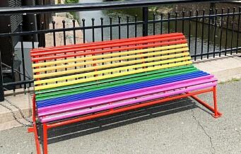 Regnbuebenker pryder sentrum fra Stortorget til Grønland: - Kjærligheten er det fineste i verden