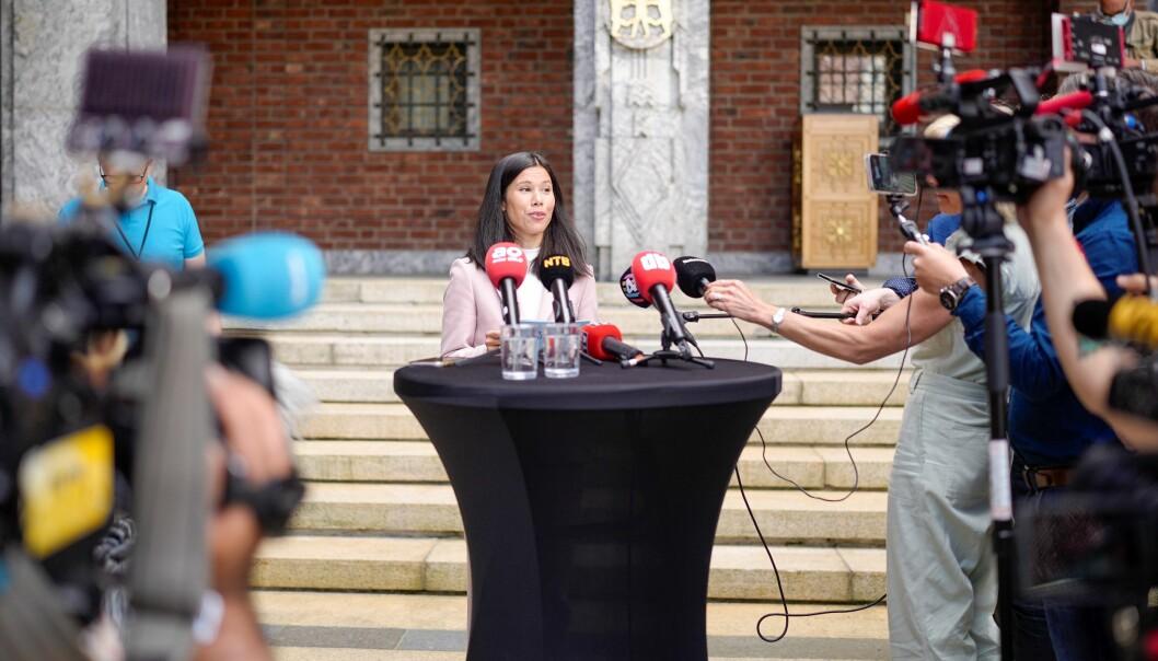 Enorm medieoppbud da Lan Marie Berg (MDG) fikk bystyreflertallet mot seg og byrådet valgte å gå av sist onsdag.