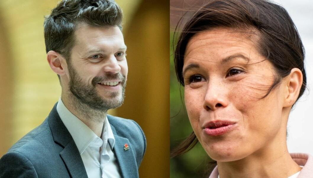 Både Bjørnar Moxnes og Lan Marie Berg ligger rundt ni prosent på den siste meningsmålingen til VG.