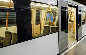 T-banen i gang igjen etter at en kvinne i 50-årene ble påkjørt på Bogerud