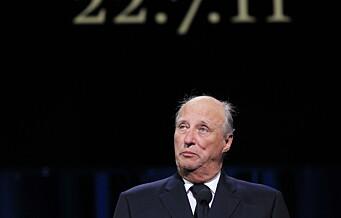 Kongen kommer til stjernespekket minnemarkering i Oslo Spektrum 22. juli