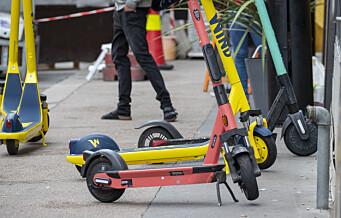 Elsparkesykkel med tre personer veltet ved Majorstuakrysset. Førerkort inndratt