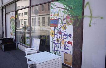 For fjerde gang denne uken ble Oslo MDGs valgkamplokaler på Galgeberg tagget ned