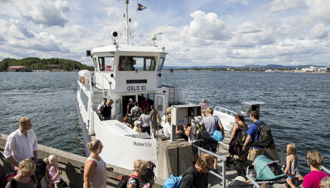 Oslo-fergene transporterer oslofolk ut til øyene i Oslofjorden.