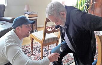 Fysioterapeut Mikkel kommer hjem til Ulf (87) i bydel Frogner: - Dette er god investering for min helse