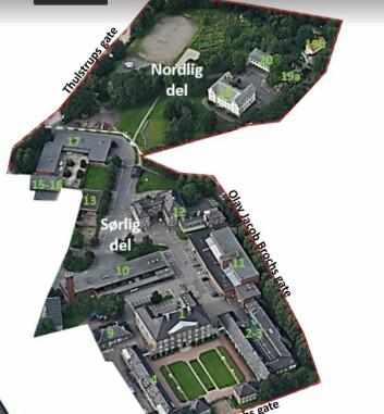 Området Oslo kommune vil kjøpe fra staten.