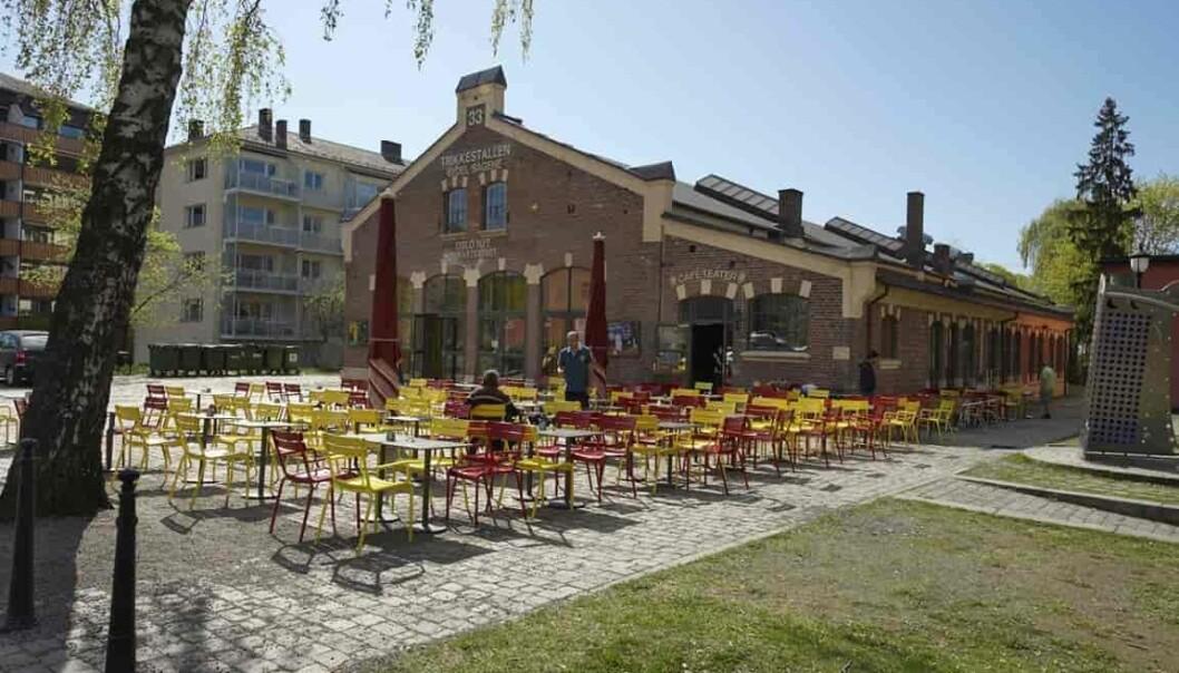 Trikkestallene på Sagene huser i dag et teater, med mange forestillinger for barn.