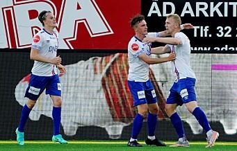 Henrik Bjørdal ble Vålerengas redningsmann i Drammen. Scoret på retur og sikret poengdeling