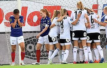 Straffebom og avgjørelse på overtid da Vålerengas damer møtte RBK i toppoppgjør
