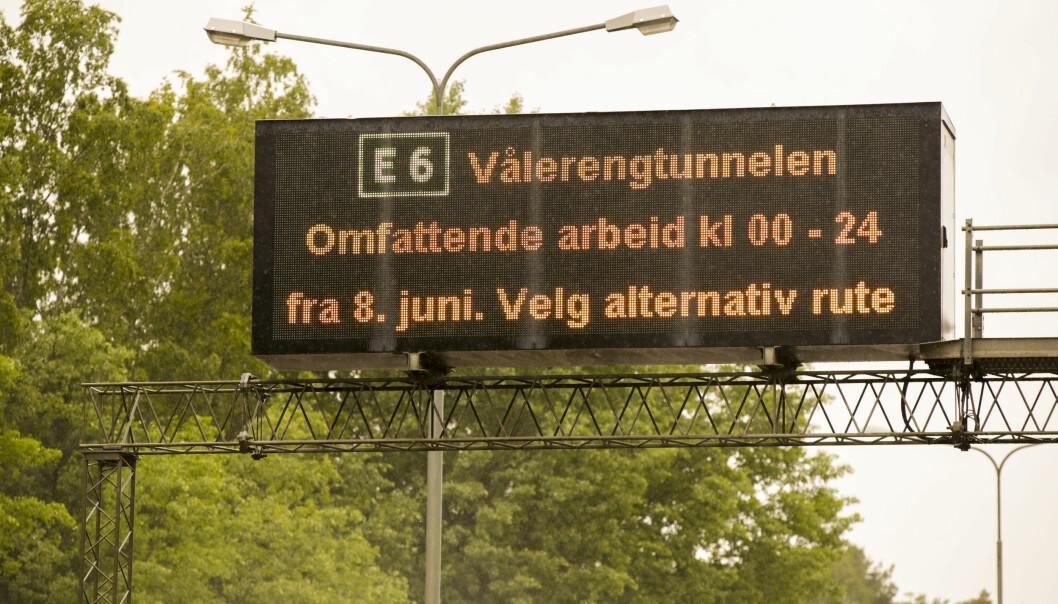 Vålerengtunnelen i Oslo har vært delvis stengt fra 8. juni i fjor. Nå er den helt åpnet igjen. Arkivfoto: Vidar Ruud / NTB