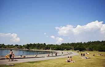 Godtar ikke syvdagersregel: — Camperne på Langøyene flytter seg ikke når vekterne kommer klokka fem idag