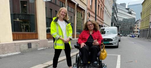 En parkerings-app viser HC-parkeringene for folk med funksjonshemning