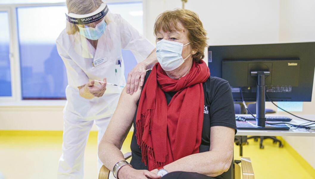 Ordfører Marianne Borgen (SV) er blant mange Oslo-borgere som har fått en koronavaksine i overarmen.
