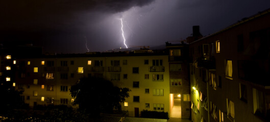 Usikkert om det blir lyn og torden over Oslo by i kveld.