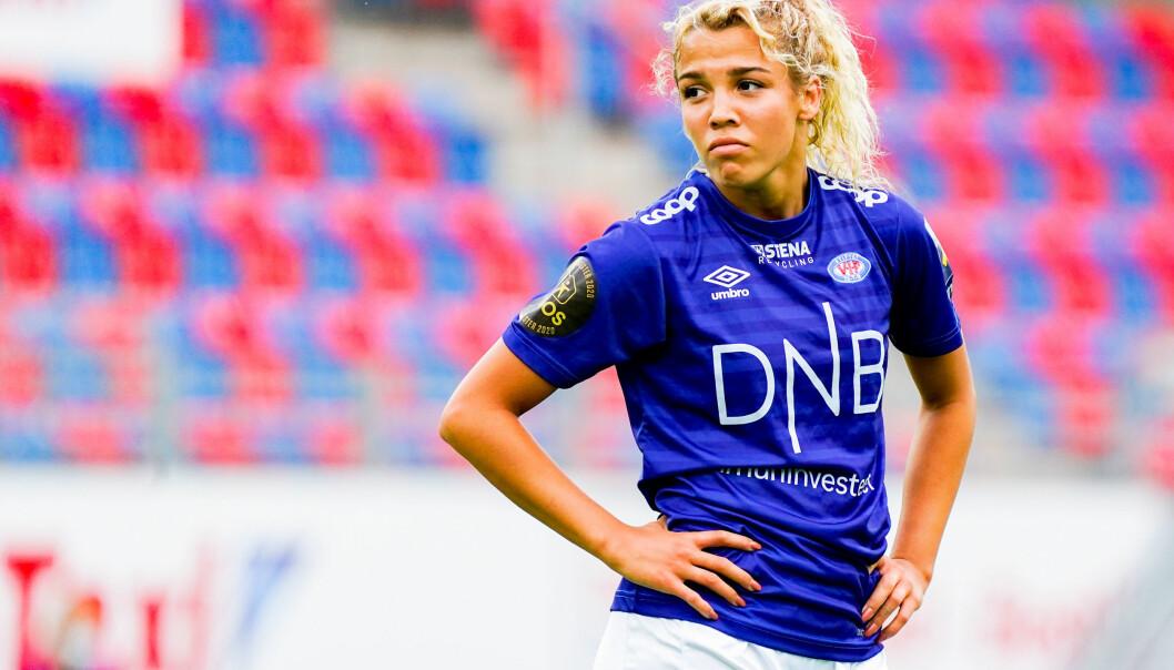 Celin Bizet Ildhusøy spilte onsdag sin siste kamp for Vålerenga i denne omgangen. Nå venter profflivet i utlandet.