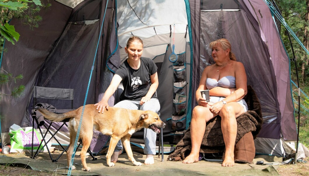 Shandi Olsen (t.v) og Jorun Solvang har i mange år feriert på Langøyene. Nå vet de ikke om de orker mer etter bymiljøetatens nye praktisering av teltreglene.