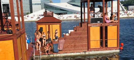 Badstuanlegget Bademaschinen på Langkaia i Bjørvika er herved åpnet. — Et fantastisk tilbud